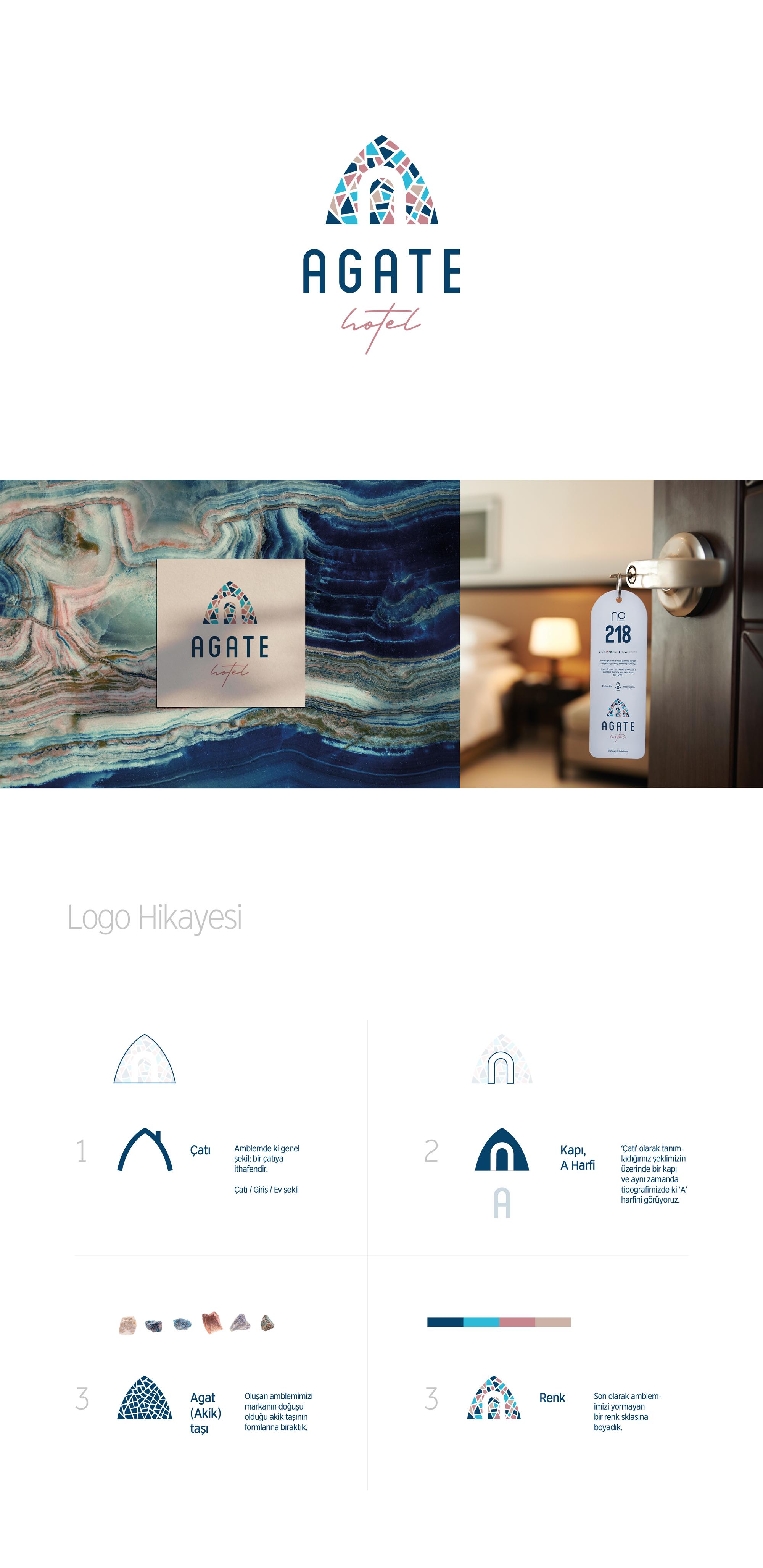 Ankara kurumsal kimlik tasarımı  Agate Hotel