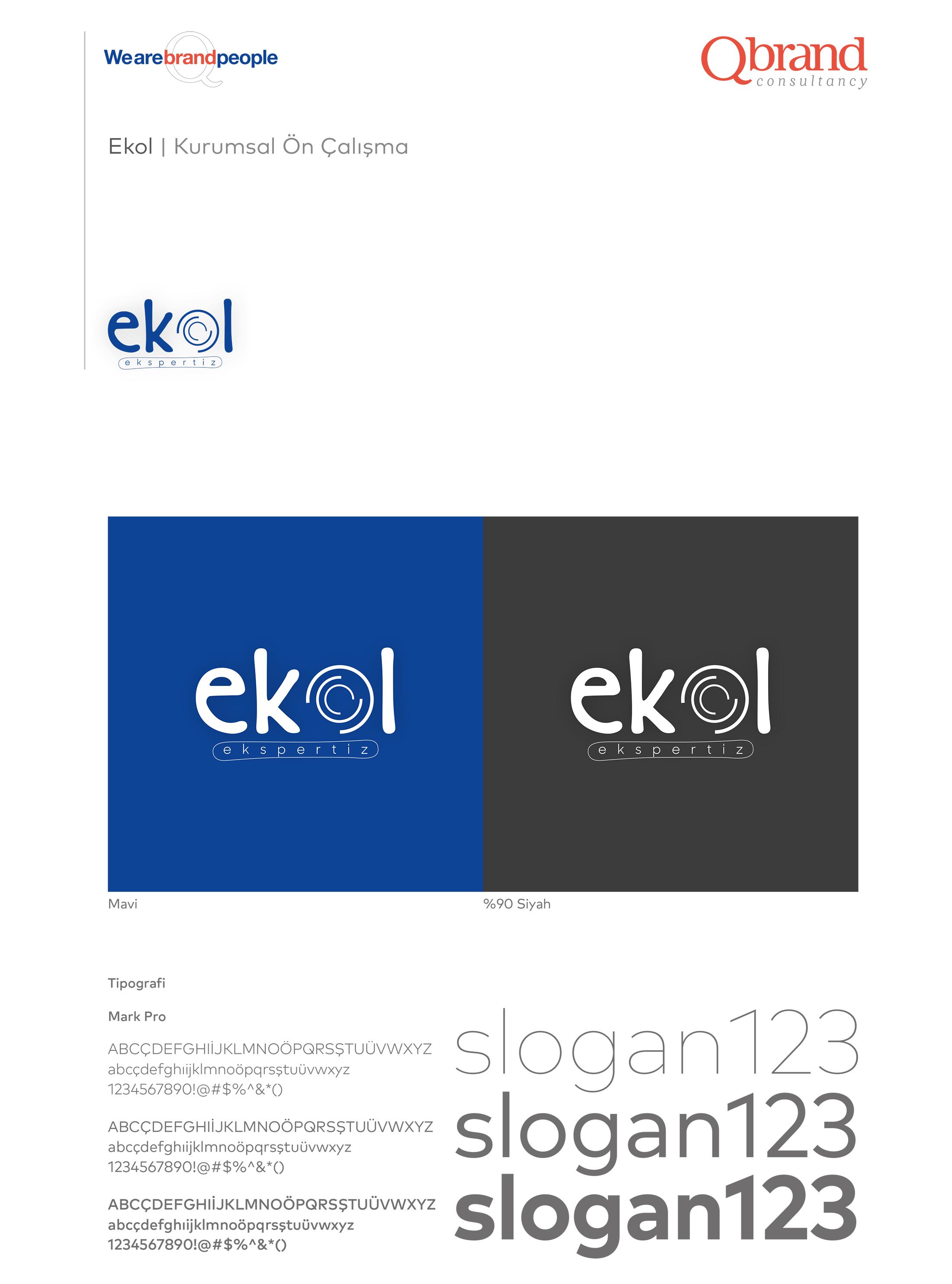 Ankara kurumsal kimlik tasarımı  Ekol Ekspertiz