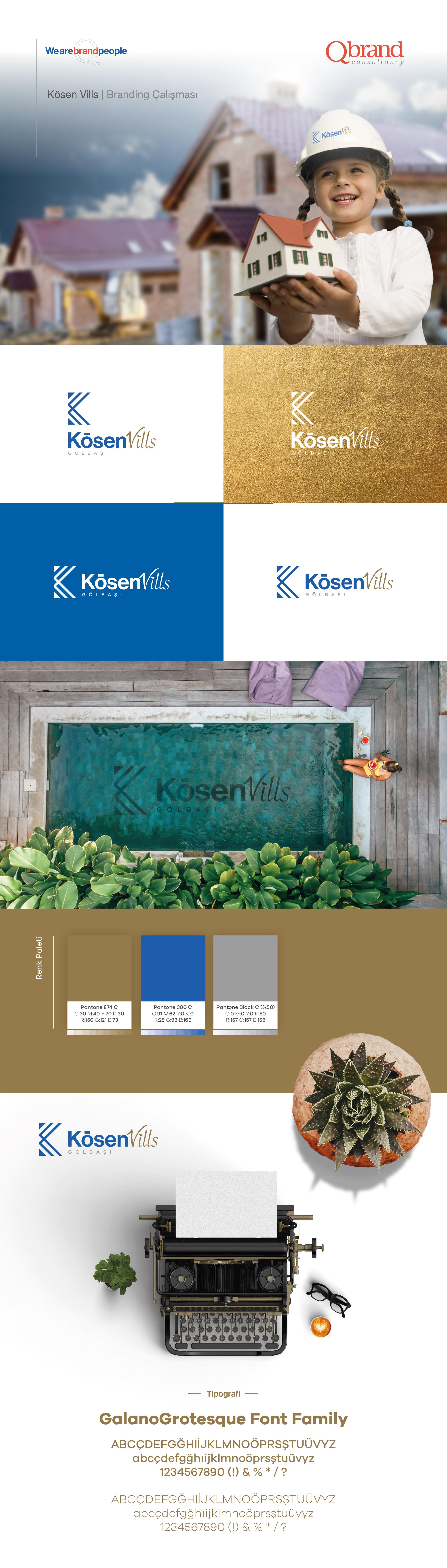 Ankara kurumsal kimlik tasarımı  Kösen Vills