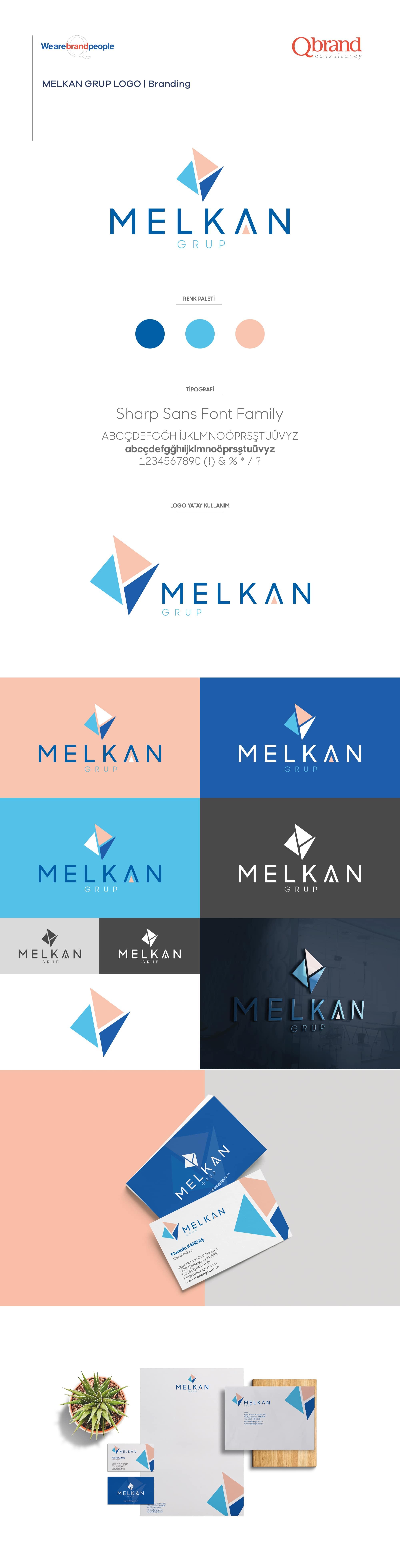 Ankara kurumsal kimlik tasarımı  Melkan Grup