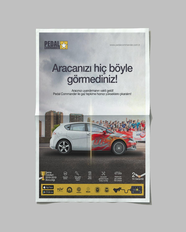 Ankara kurumsal kimlik tasarımı  Pedal Commander