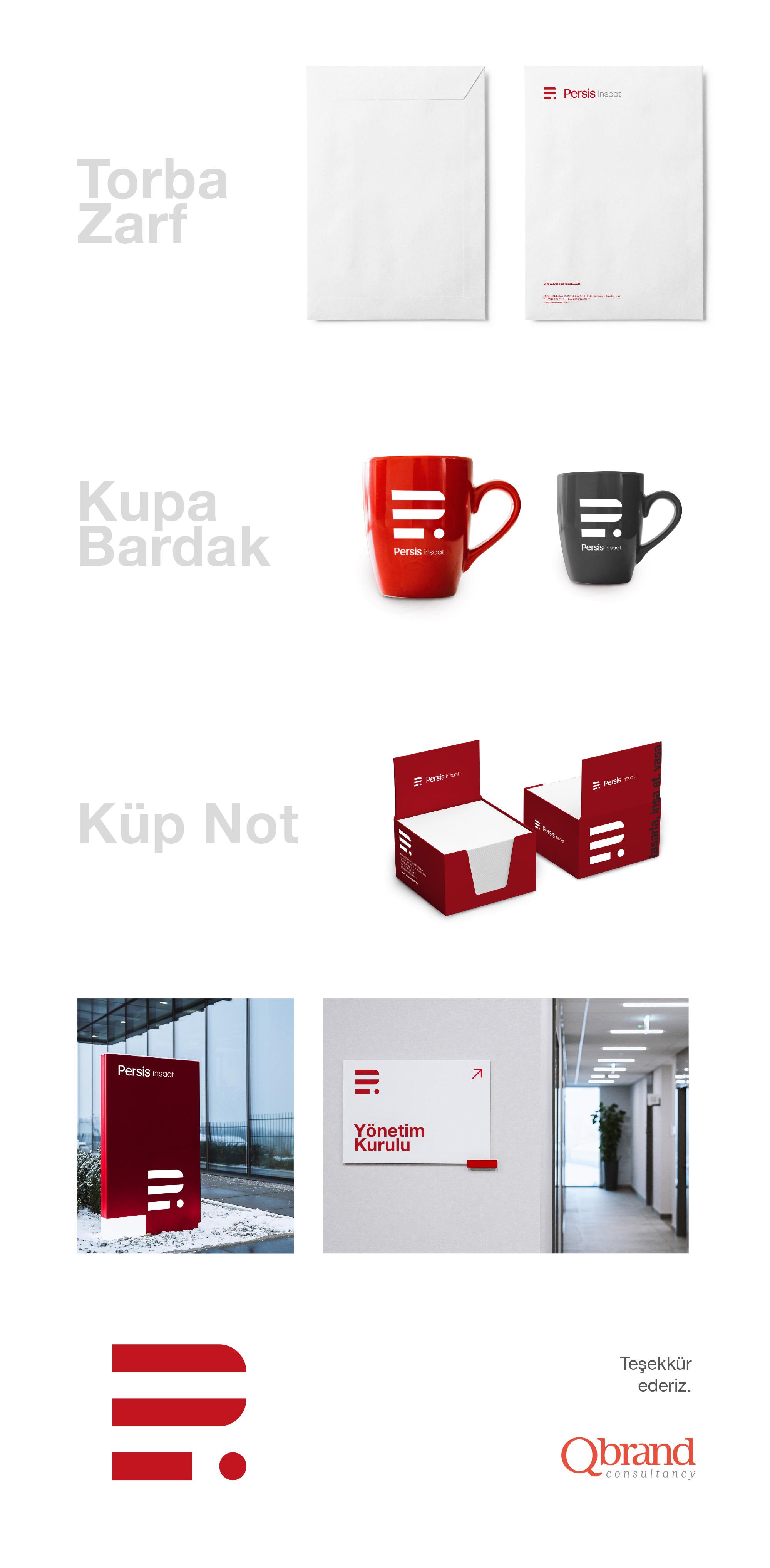 Ankara kurumsal kimlik tasarımı  Persis İnşaat